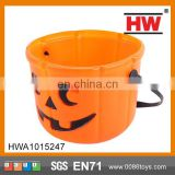 2015 Hot Selling good quality plastic halloween pumpkin buckets
