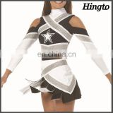 Cheerleading clothes skirts girls sexy custom spandex long sleeve cheerleader/cheerleading uniforms costume design wholesale