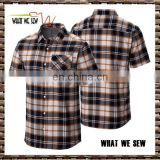 plaids mens flannel shirts casual shirts golf shirts custom 2017