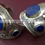 (LAP---001) Afghan Turkoman Cuff Available in lapis/turqoise/emerald/coral/agate
