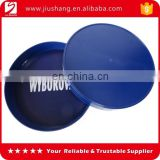 Design cheap round plastic bar food tray with printing Logo for mass selling