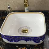 Ceramics sanitary ware hand wash basin art basin bathroom sinks decals