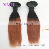 XMH hair High quality 100% peruvian human hair weave ombre hair