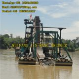 Engineer Assigned 100m³/h 200m³/h Bucket Chain Gold Dredger Boat