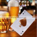 Stainless Steel Ace of Spades Poker Playing Card Bottle Opener
