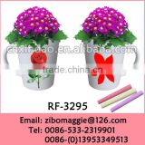 Flare Shape professional Zibo Manufactured Hot Sale Ceramic Disposable Flower Vase