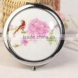 Custom design quality logo printing metal crystal makeup pocket mirror                                                                         Quality Choice