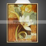 modern wall decorative beautiful hand painted flower oil painting with stocks ZX-061