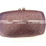 New arrival China Wholesale clutch style crystal material rhinestone crystal clutch bags