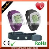 All-in-one Heart Rate Monitor Watch with Chest Strap Calorie Counter Digital Watch with Pedometer Stopwatch, HRM DHP-828