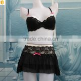 Black hot mini bikini skirt and padded bra in USA