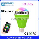 UEMON new products on china market e27 bluetooth led bulb with music mode , bluetooth speaker music led blub