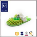 lovely fabric indoor soft slippers, child slipper cute for girls,soft indoor child slippers