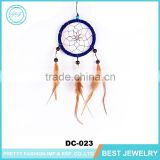 2016 New Trendy Fashion Wholesale Cheap Nylon Rope Some Shells Navy Blue Dream Catcher With PU Leather