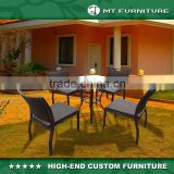Outdoor Armless Chairs Bamboo Style Dining Set