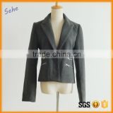stand collar short woolen winter coats for women                                                                                                         Supplier's Choice