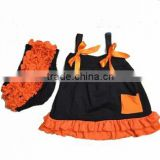 wholesale halloween design baby swing top set with bloomer set