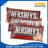Chocolate candy roll packing film / plastic printed bags for chocolate bar packaging