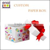 Guangzhou factory exquisite paper jewelry packaging box with ribbon                                                                         Quality Choice