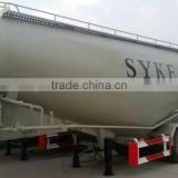 HOT SALE !tri-axle bulk powder material truck/ bulk cement semi trailer