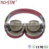 Shenzhen factory price foldable headband noise cancelling headphone with metallic coated