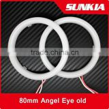 Auto Guide led Light Ring 5630 smd 80mm Angel Eyes Ring 12v DC led angel eyes for Headlight with 2 drivers