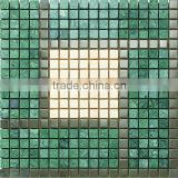 Green Marble Mosaic Tile for wall and floor decor Marble Mosaic good construction material 300*300 YX-SM17