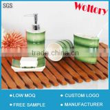 Ceramic Bamboo shape Mug / lotion bottle / soap dish / tooth brush holder bathroom sets