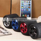 2014 new product tire shaped vatop bluetooth speaker with hands free function made in China