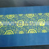 sandy finish Silicone Placemat table dish Mat with very good printing