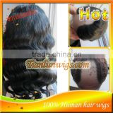 Fashional nice Body Wave Brazilian virgin human hair U Part Full Lace wigs&Lace Front wig Natural Hairline HOT!!!!