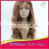 Free Shipping 100% Human Hair Lace Front Wig, Brazilian Remy Body Wave Natrual Hairline African American Wave Hairstyles