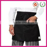 Unisex cheap black polyester cotton waist apron (factory)                                                                         Quality Choice