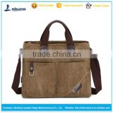 Men's Canvas Laptop Messenger Shoulder bag Leather Straps Satchel handbag                                                                         Quality Choice