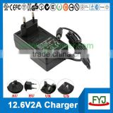 charger lithium battery 12.6v 2000ma for 3S 11.1v lithium battery pack YJP-126200
