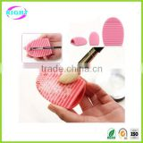 Brush Egg Silicone MakeUp Brush Finger Scrubber Cleaner