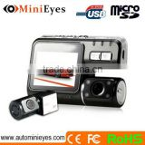 120 degree wide-angle G-sensor dual camera GPS G-sensor car dash cam