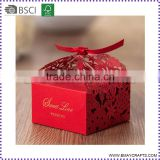 Red Color Sweet Love Wedding Pearl Paper Wedding Chocolate Box