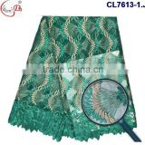 China high quality french embroidery lace with stones for European women dress chemical polyeaster material lace fabric