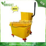 30LT BB30 Side press trolley plastic cleaning mop wringer bucket with wheels                                                                         Quality Choice