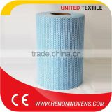Hot New Product From China, Blue Color Cotton Fiber Material Mesh Spunlace Non Woven Fabric Cloth