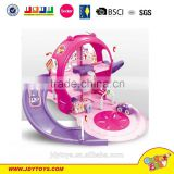 Hot sale fashion pink & purple color park lot toy for girl,lovely cartoon parking lot toy,car playset