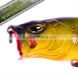 wholesale fishing tackle minnow hard plastic fishing lure Pop Tiger 75mm 14g