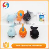 Soft fish shaped baby rubber squirting bath toy