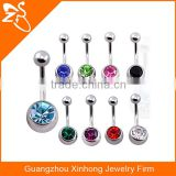 surgical stainless steel navel belly bar types female sexy belly button ring