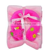 Wholesale baby soft blankets with toy pillow