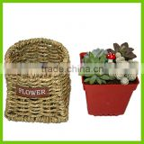 small brown storage basket China supplier for rectangular basket handmade ground weave pattern storage basket