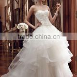 (MY2199) MARRY YOU Alibaba Sweetheart Heavily Beaded Bodice High Low Ruffle Skirt Wedding Dress 2016