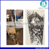 High Quality Waterproof Nordic Old Clock Temporary Tattoo Body Tattoo Sticker Arm Leg Art Stickers Removable