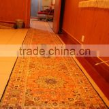 Corridor carpet extraordinary long pure silk carpets hereke silk carpets bamboo carpet